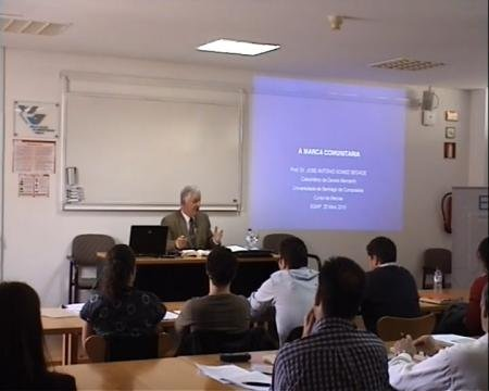 José Antonio Gómez Segade, Catedrático de Dereito Mercantil na Universidade de Santiago de Compostela - Curso de Marcas
